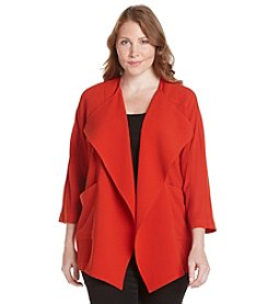 Laura Ashley® Plus Size Solid Cocoon Jacket