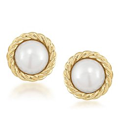 Carolee® Goldtone Manhattan Medley Button Clip On Earrings