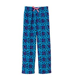 Calvin Klein Girls' 5-16 Leopard Fleece Pajama Pants