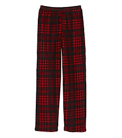 Calvin Klein Boys' 5-16 Plaid Fleece Pajama Pants