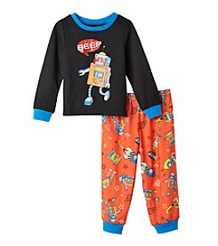 Komar Kids® Boys' 2T-4T 2-Piece Robot Pajama Set
