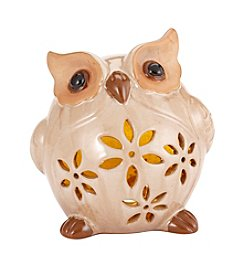 Living Quarters Cream LED Owl Figurine