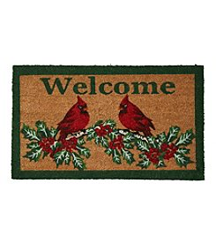Living Quarters Cardinals and Holly Coir Mat