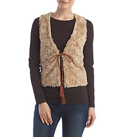 Relativity® Faux Fur Vest