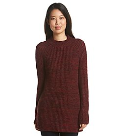 Relativity® Marled Mock Neck Spacedye Sweater