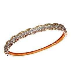 Effy® Trio Collection 1.42 Ct. T.W. Diamond Bangle In 14K Tri Color Gold