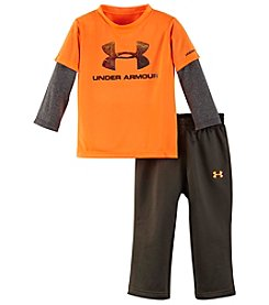 Under Armour® Baby Boys 2-Piece Layered Tee And Pants Set