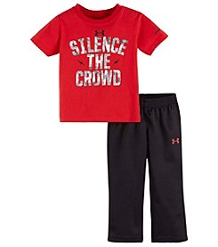 Under Armour® Baby Boys 2-Piece Silence The Crowd Tee And Pants Set