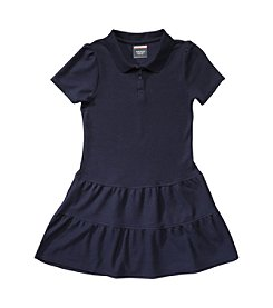 French Toast; Girls' 4-16 Ruffled Pique Polo Dress