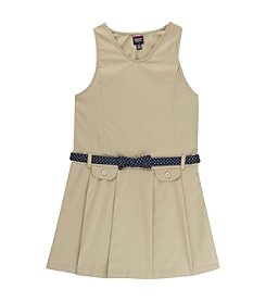 French Toast; Girls' 4-14 Bow Belted Jumper