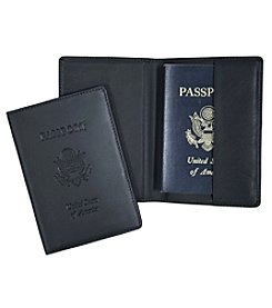 Royce® Leather Debossed RFID Blocking Passport Travel Document Organizer
