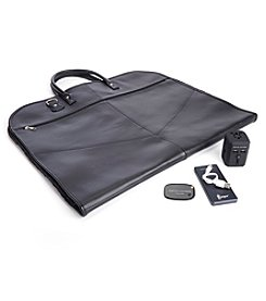 Royce® Leather Luxury Travel Garment Bag Travel Set