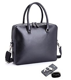 Royce® Leather RFID Blocking Saffiano Leather Executive Travel Briefcase