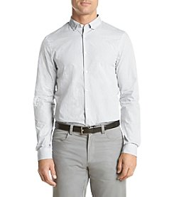 Michael Kors® Men's Slim Fit Large Dot Print Long Sleeve Button Down Shirt