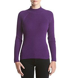 Studio Works® Petites' Ribbed Mock Neck Sweater