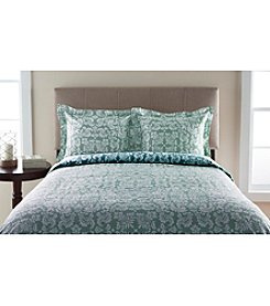 Elite Home Products Canterbury Scroll 300-Thread Count Duvet Set