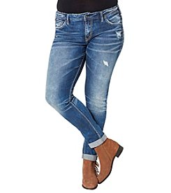 Silver Jeans Co. Plus Size Kenni Girlfriend Cuffed Jeans