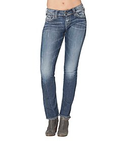 Silver Jeans Co. Suki Mid Rise Straight Leg Jeans