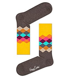 Happy Socks® Men's Faded Diamond Dress Socks