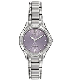 Citizen® Women's Eco-Drive Silvertone Watch With Diamond Accents