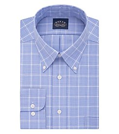 Eagle® Men's Non Iron Stretch Regular Fit Plaid Dress Shirt