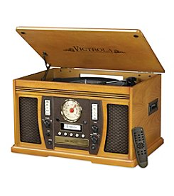 Victrola® Aviator Wooden 7-In-1 Nostalgic Record Player With Bluetooth And Digital CD Encoding