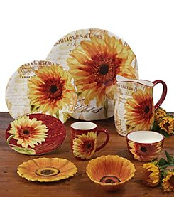 Certified International by Color Bakery Paris Sunflower Dinnerware Collection