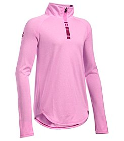Under Armour® Girls' 7-16 Quarter Zip Tech Novelty Pullover