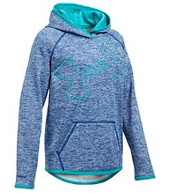 Under Armour® Girls' 7-14 Fleece Novelty Jumbo Logo Hoodie