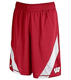 Under Armour® NCAA® Wisconsin Badgers Boys' 8-20 Microthread Shorts
