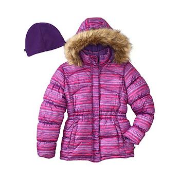 Vertical 9 Girls 2T-16 Faux Fur Trim Puffer Jacket