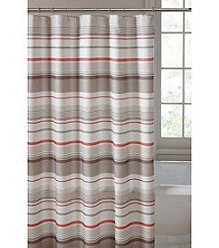 Saturday Knight, Ltd.® Coral Garden Stripe Shower Curtain
