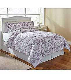 LivingQuarters Reversible Microfiber Down-Alternative Kiera Damask Comforter