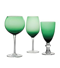 Certified International Green Stemware