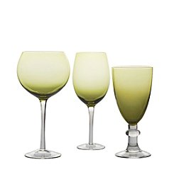 Certified International Olive Green Stemware