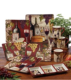 Certified International by Color Bakery Wine Tasting Dinnerware Collection