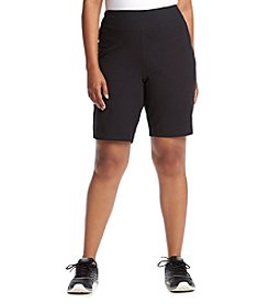 Exertek® Plus Size Solid Shorts