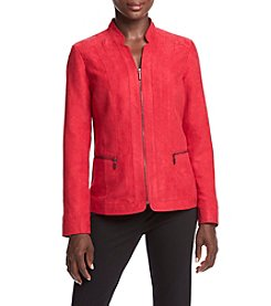 Studio Works® Petites' Solid Color Inverted Notch Jacket