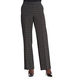 Studio Works® Petites' Plaid Menswear Cleanfront Pants