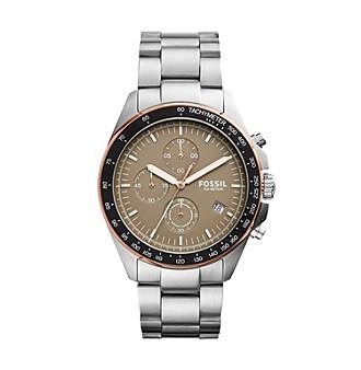 Fossil® Men's Sport 54 Silvertone Watch -  CH3036