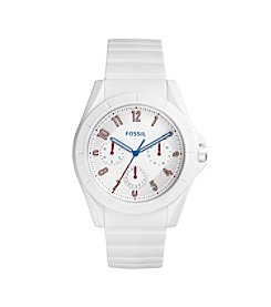Fossil® Men's Poptastic Watch In White With Silicone Strap