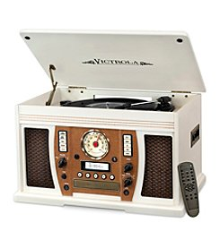 Victrola® Aviator Wooden 7-In-1 Nostalgic Record Player With Bluetooth And Digital CC Encoding