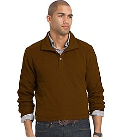 Van Heusen® Men's Big & Tall Long Sleeve Button Mock Sweater Fleece