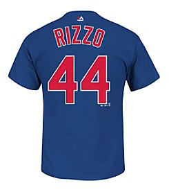 Majestic Men's MLB Chicago Cubs Rizzo 44 Short Sleeve Tee