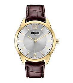 Unlisted by Kenneth Cole® Men's Two-Tone with Brown Strap Watch