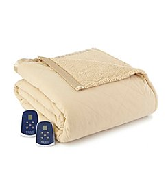 Shavel Home Products Micro Flannel® Reversible Sherpa Electric Heated Blanket