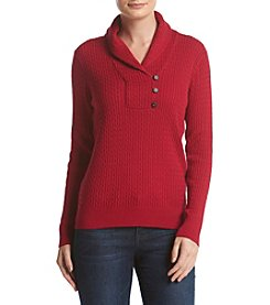 Jeanne Pierre® Baby Cable Shawl Collar Sweater