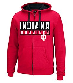 J. America® NCAA® Indiana Hoosiers Men's Hands Down Full Zip Hoodie