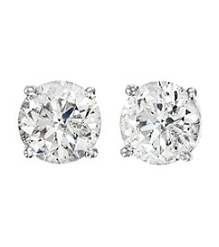 Effy® 0.75 Ct. T.W. Diamond Earrings In 14K White Gold