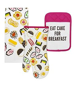 kate spade new york® Eat Cake For Breakfast 3-Piece Kitchen Linens Set